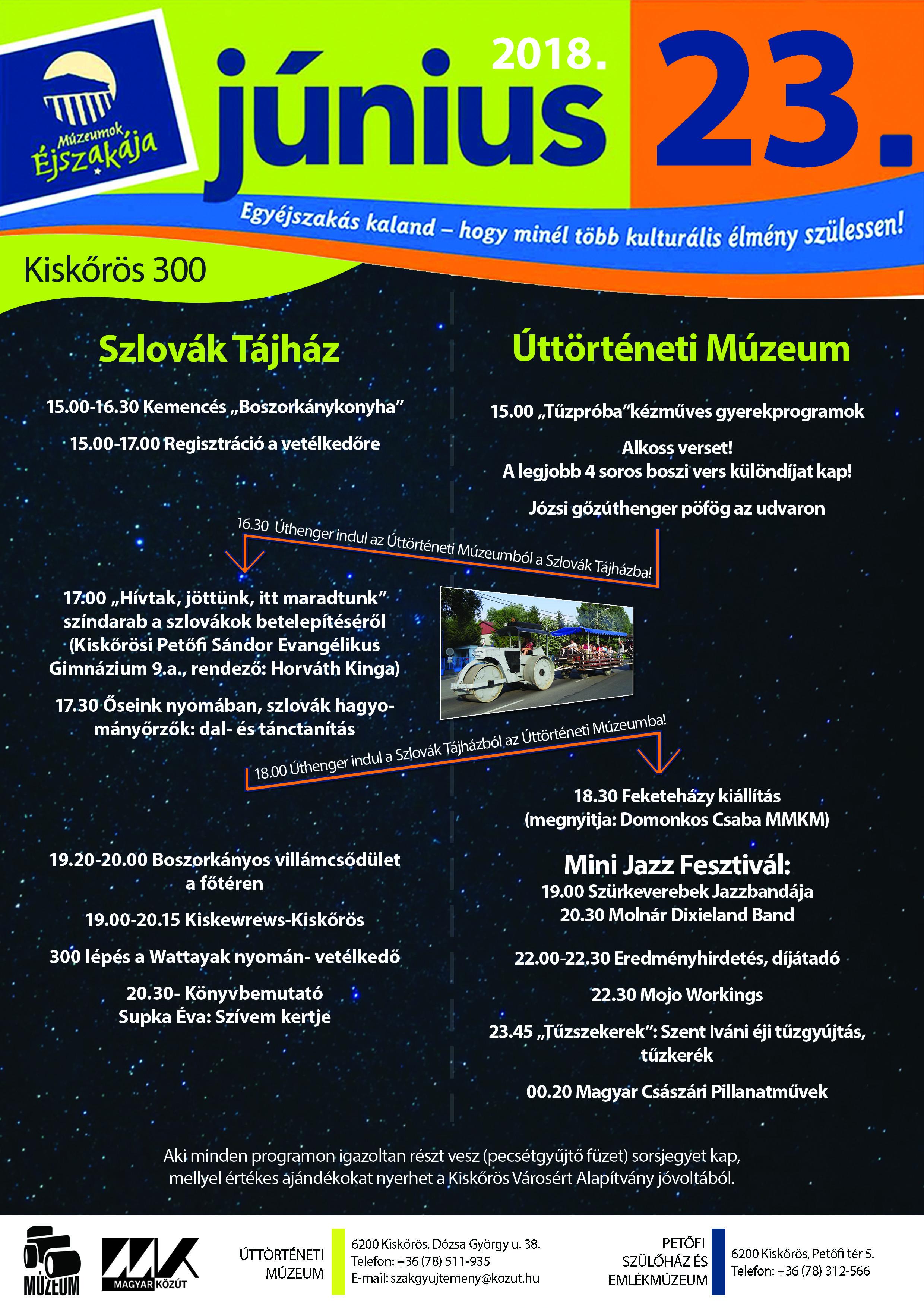 Múzeumok Éjszakája - Kiskőrös - 2018