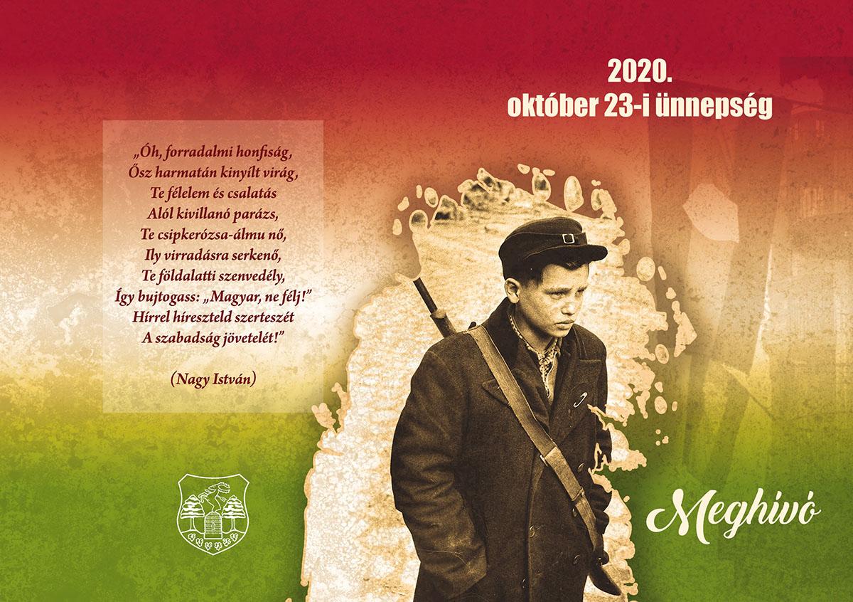 2020. október 23-i ünnepség