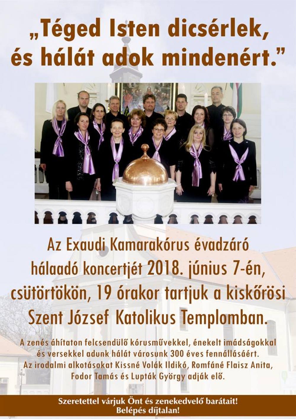 Exaudi Kamarakórus évadzáró hálaadó koncert