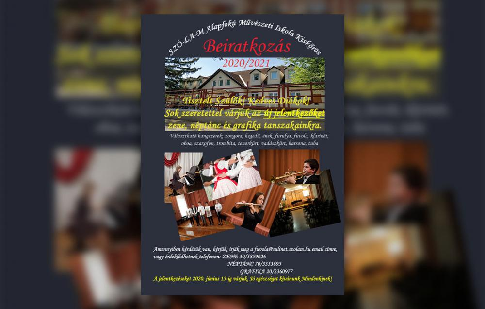 SZÓ-LA-M Alapfokú Művészeti Iskola - Beiratkozás 2020/2021