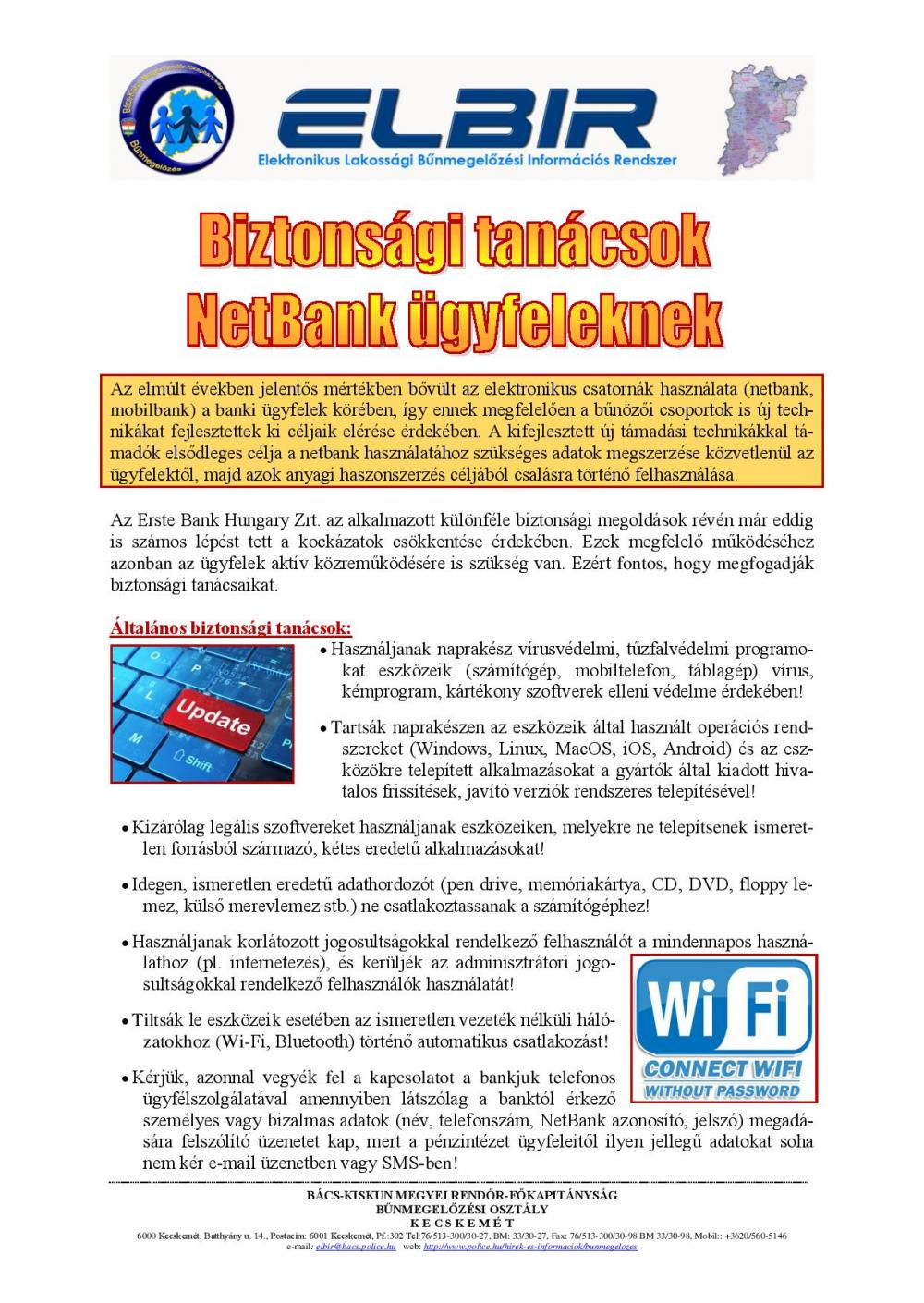 Biztonsági tanácsok NetBank ügyfeleknek