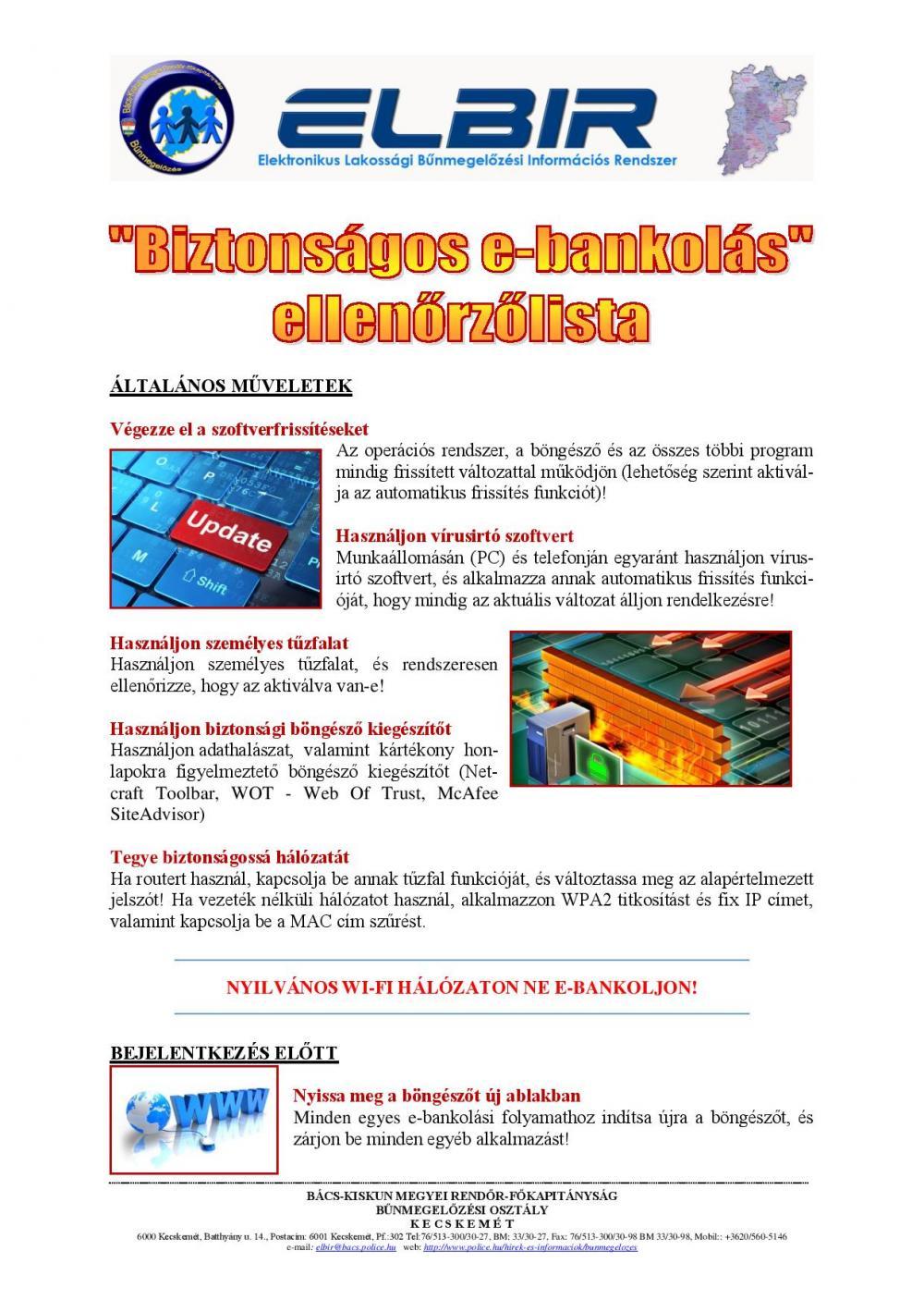 Biztonságos e-bankolás