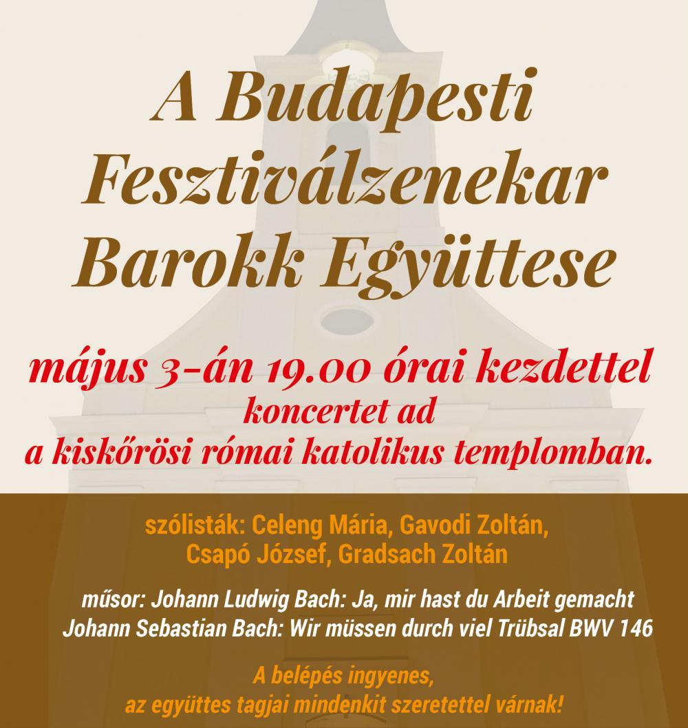 A Budapesti Fesztiválzenekar Barokk Együttesének koncertje