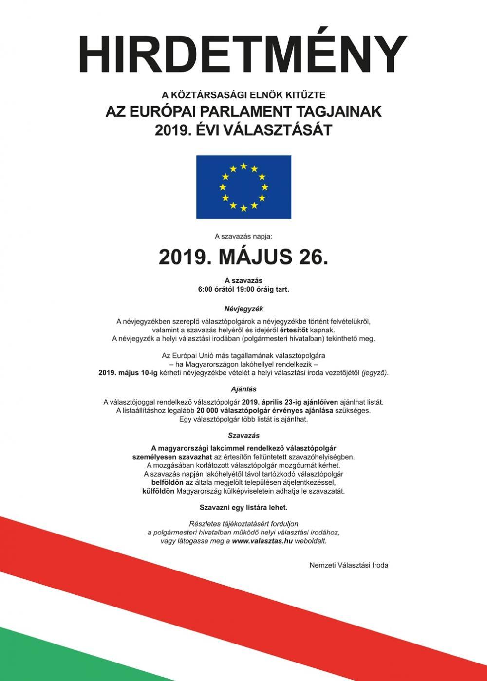 Európai Parlament tagjainak választása