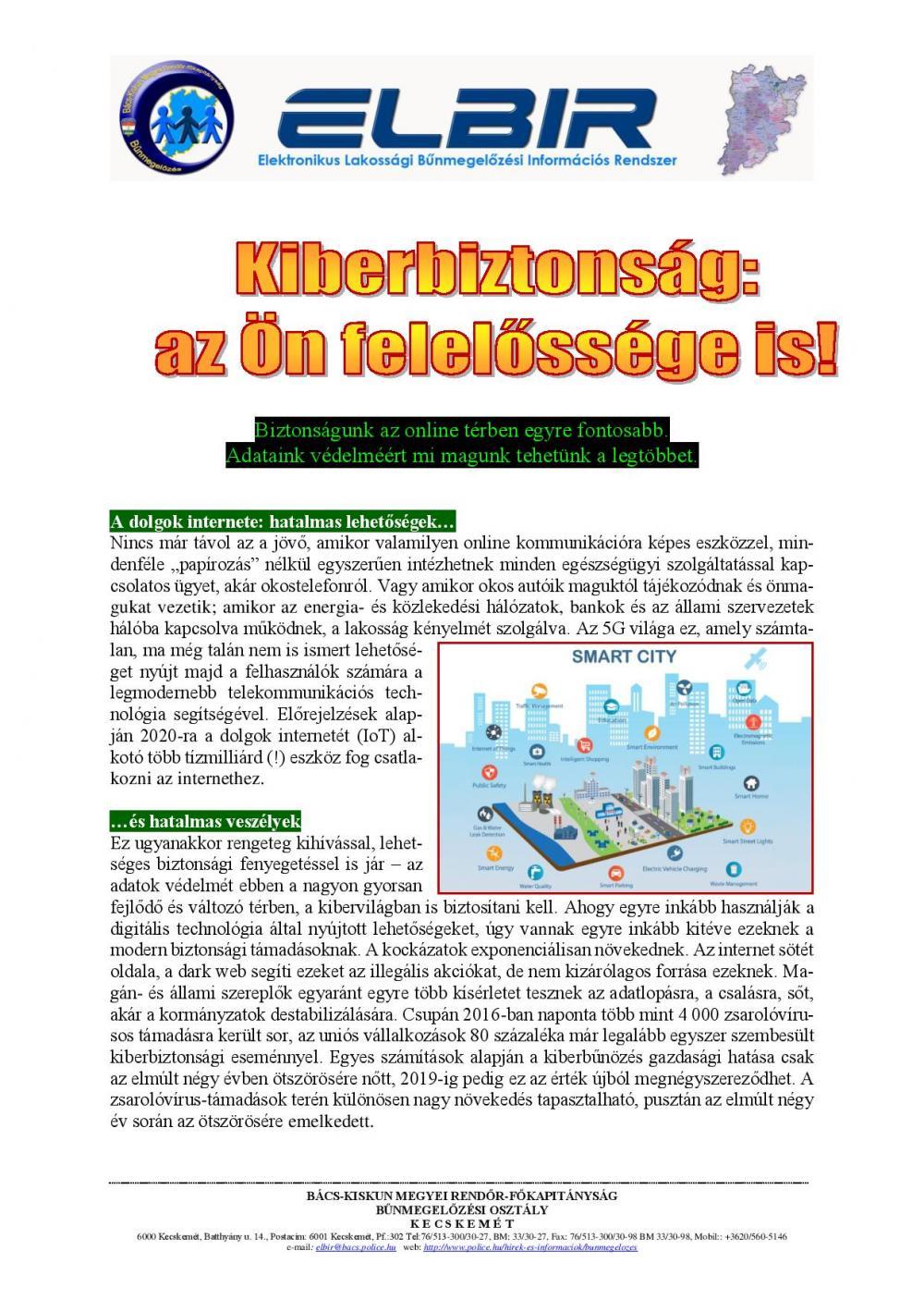 Kiberbiztonság: az Ön felelőssége is!