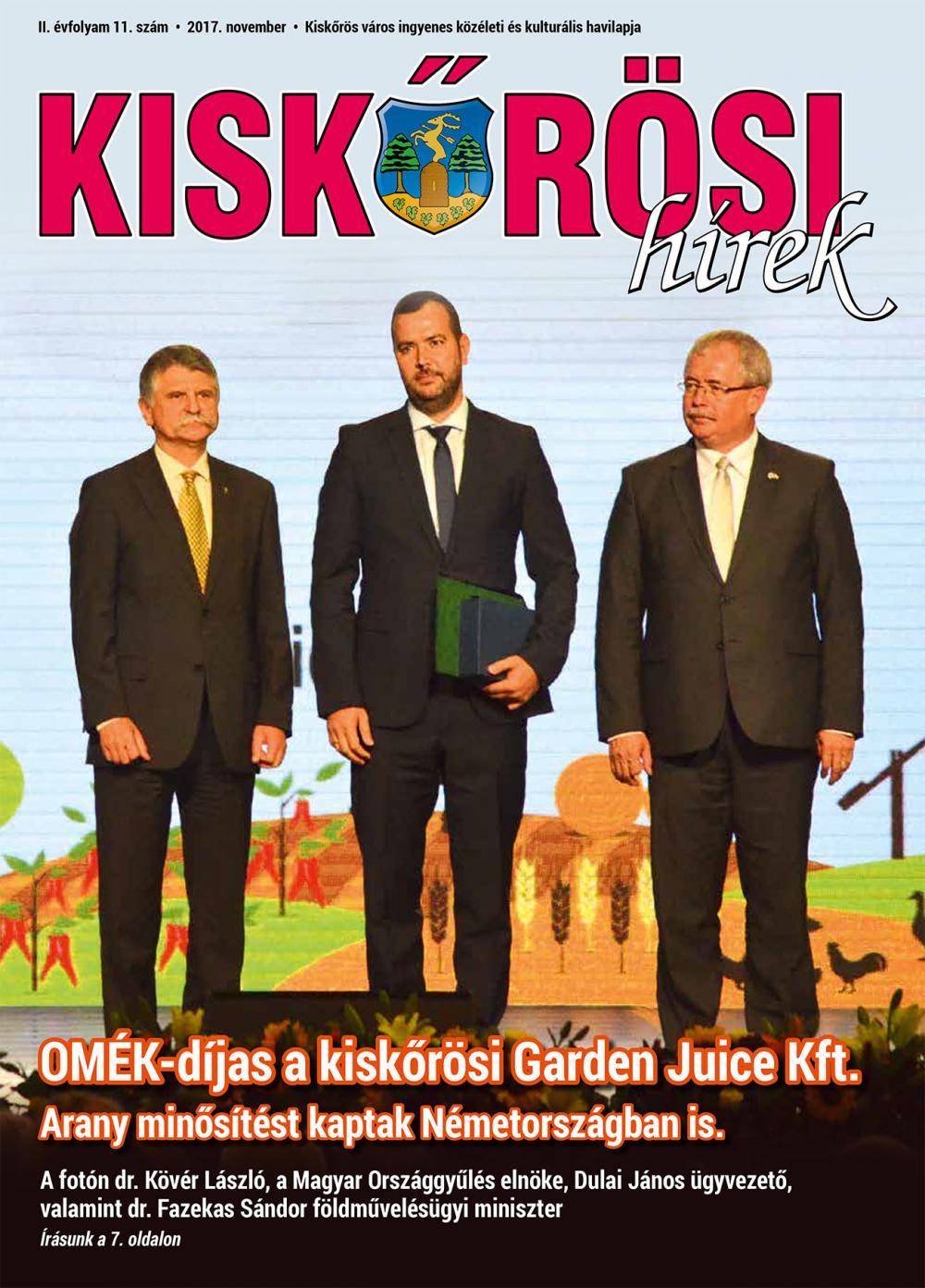 Kiskőrösi Hírek - 2017. novemberi szám