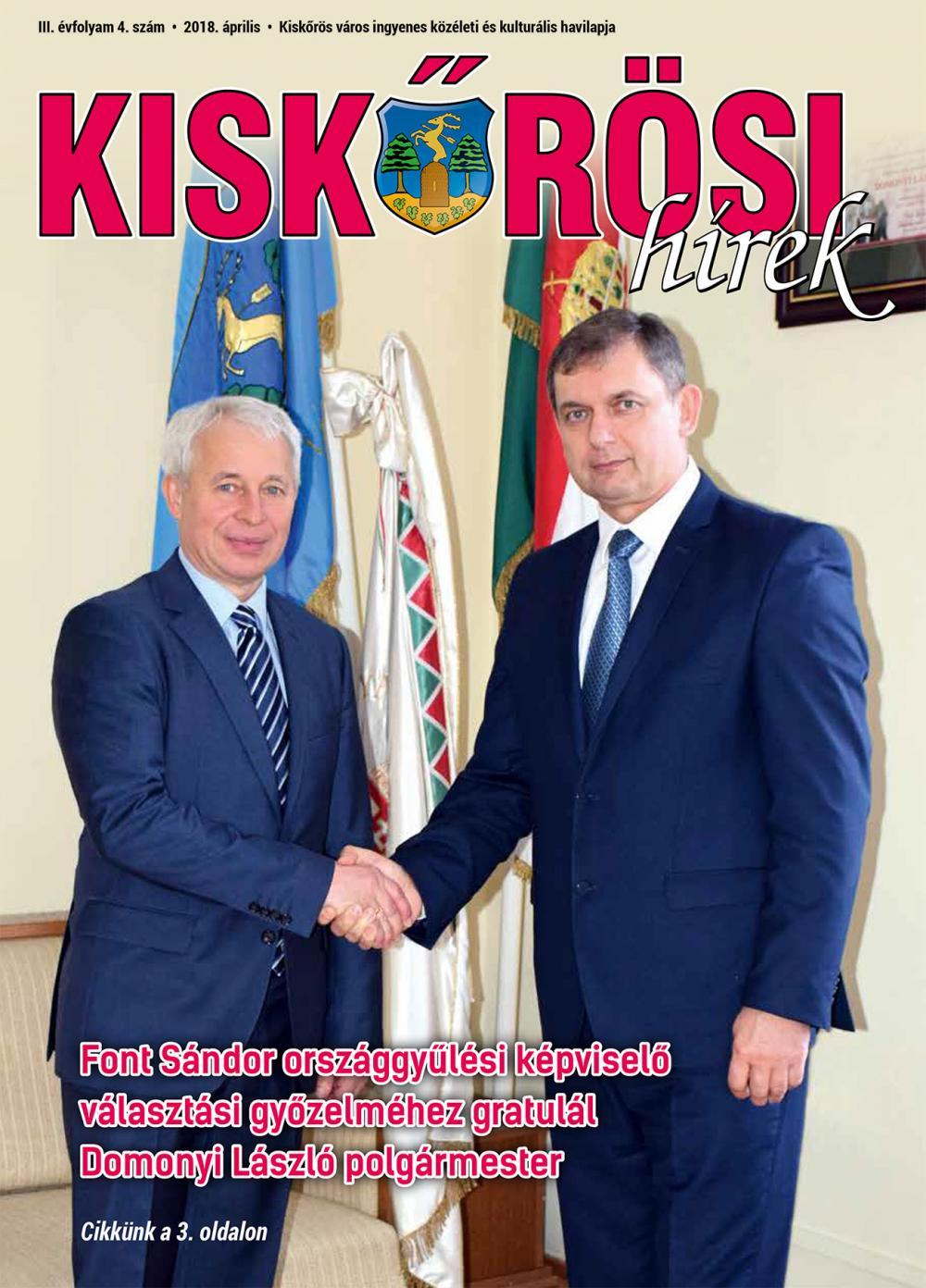 Kiskőrösi Hírek - 2018. áprilisi szám