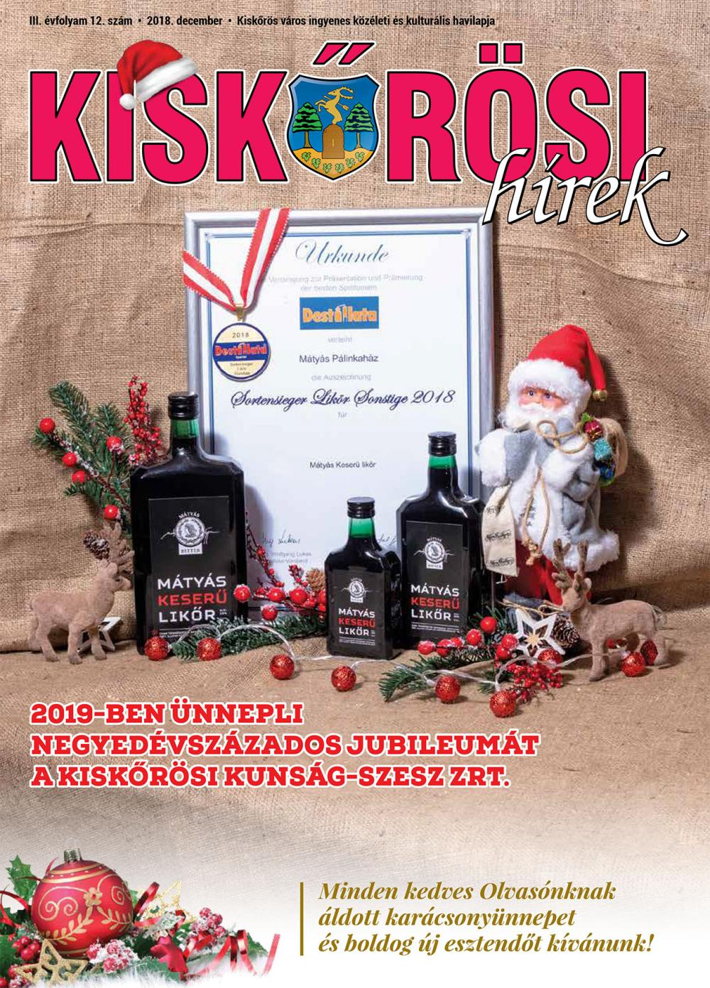 Kiskőrösi Hírek - 2018. decemberi szám