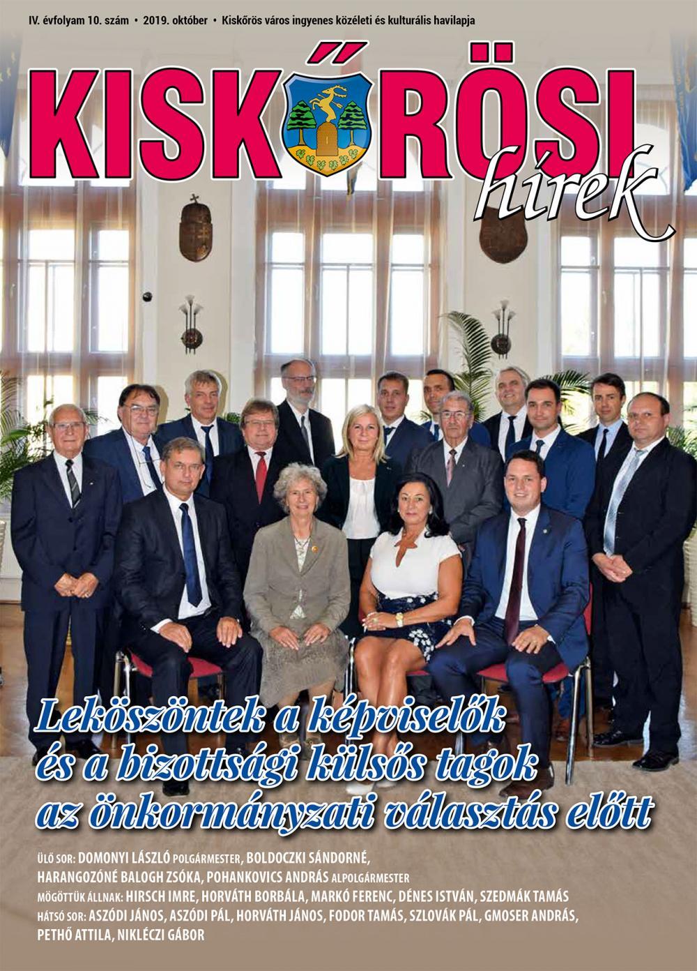 Kiskőrösi Hírek - 2019. októberi szám