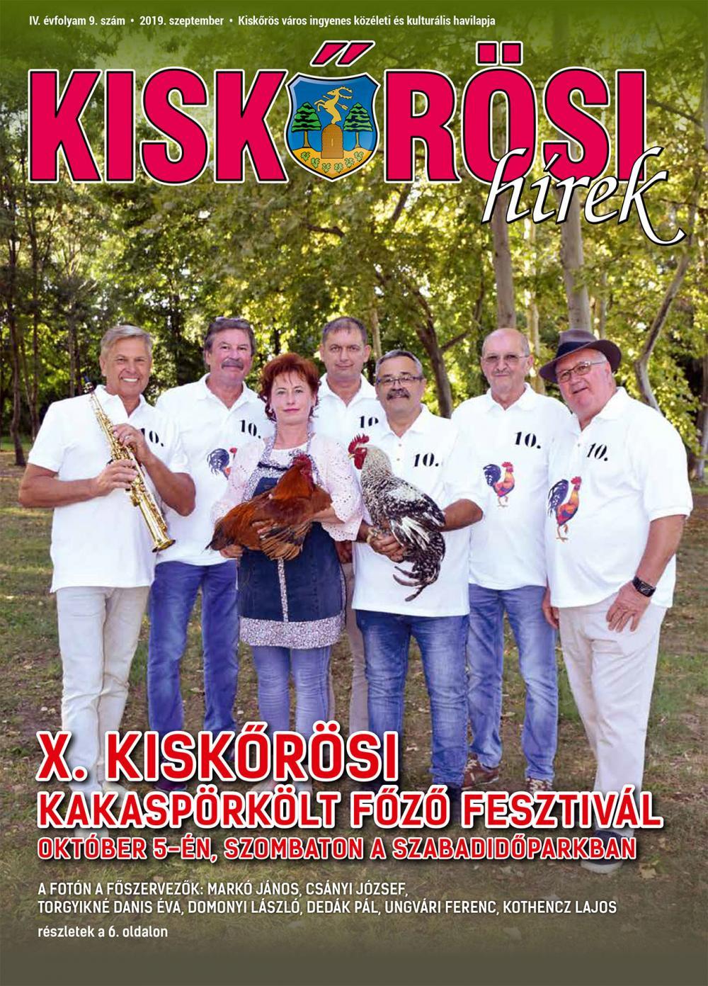 Kiskőrösi Hírek - 2019. szeptemberi szám