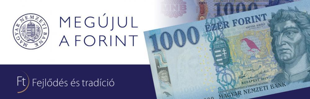 Megújul a forint - 1000 Ft - tájékoztató