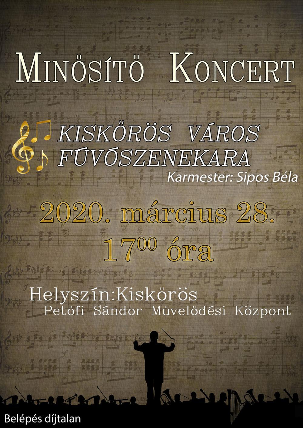 Kiskőrös Város Fúvószenekarának minősítő koncertje