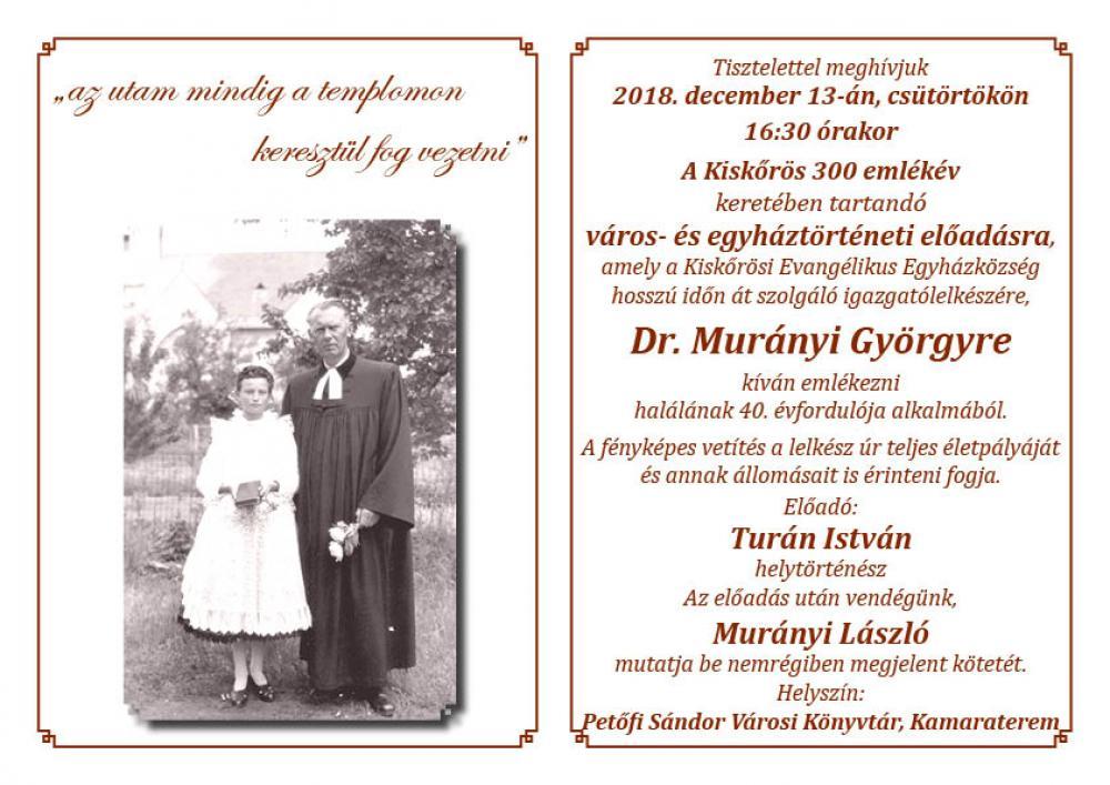 Város- és egyháztörténeti emlék előadás