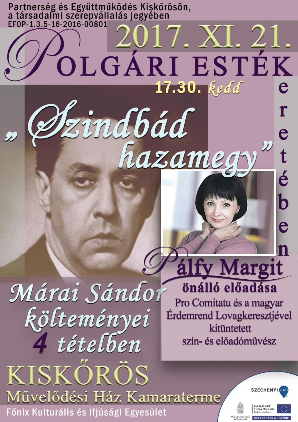 Szindbád hazamegy - Pálfy Margit előadása