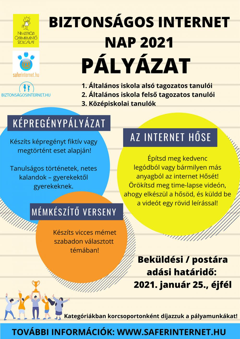 Biztonságos Internet Nap 2021 - pályázat