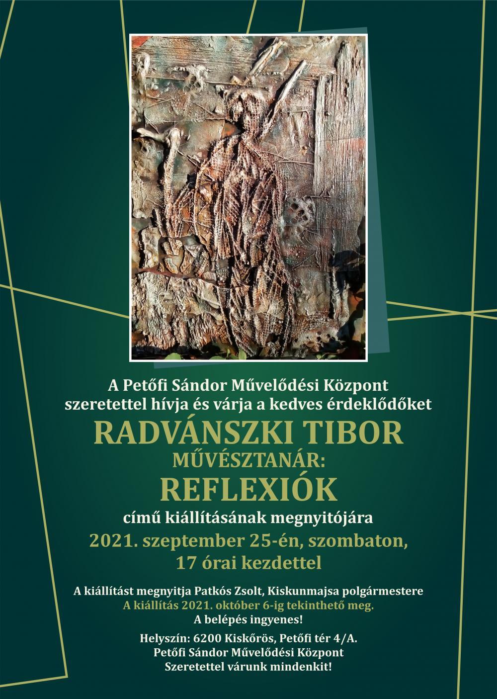 Radvánszki Tibor művésztanár kiállítása
