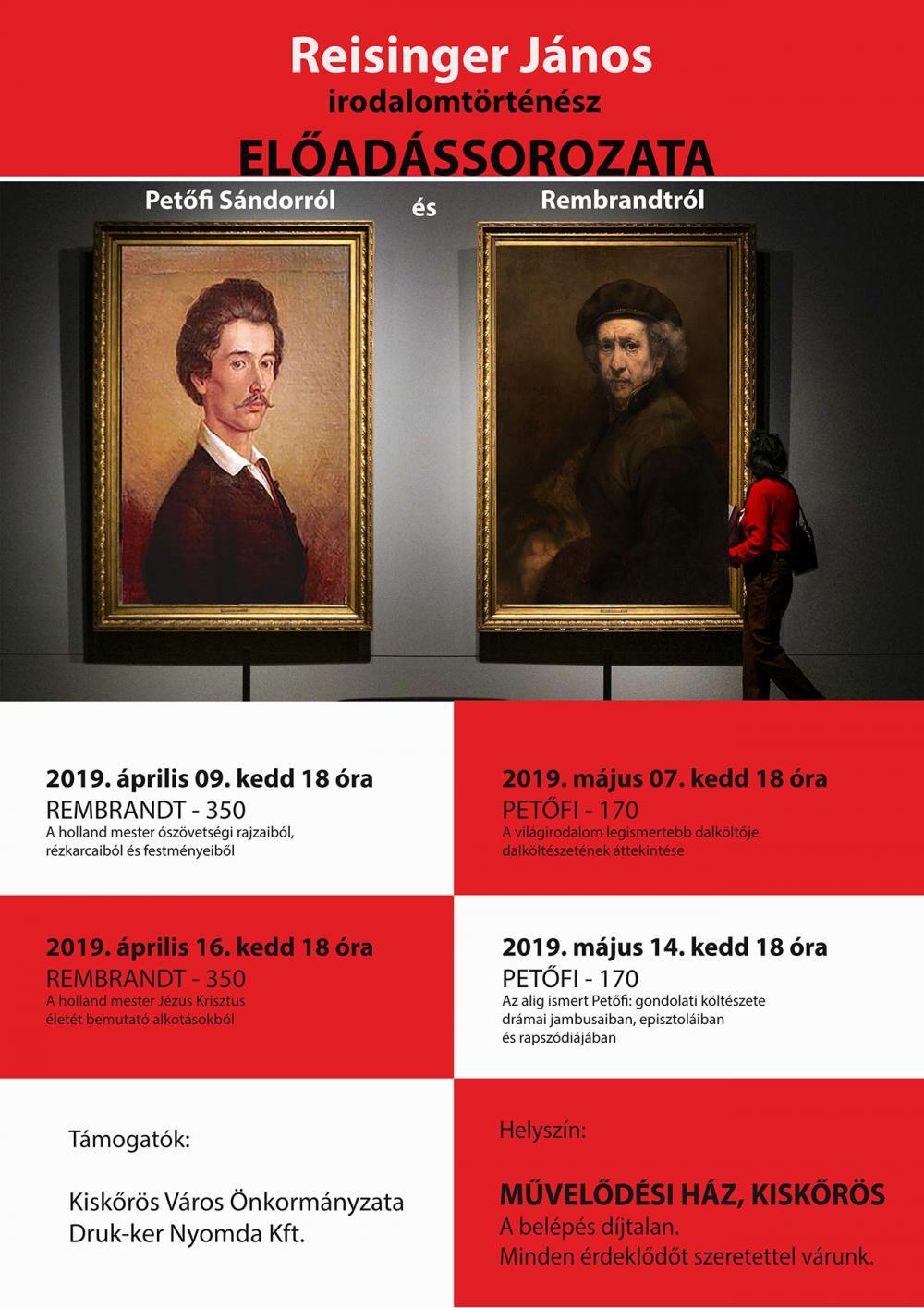 Előadássorozat Petőfi Sándorról és Rembrandtról