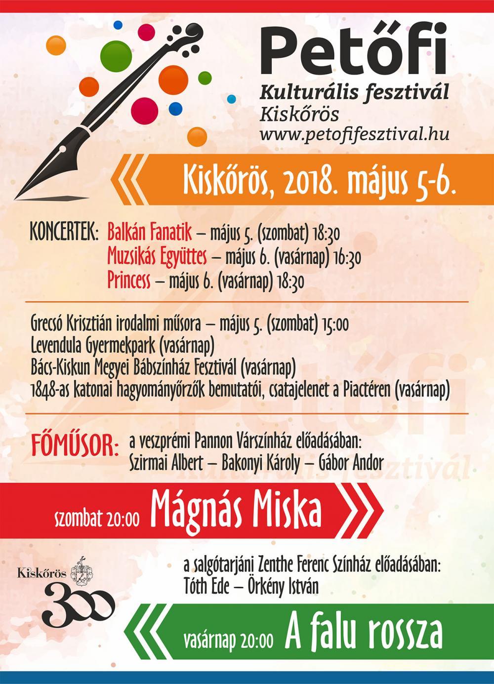 Petőfi Kulturális Fesztivál - 2018